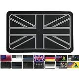3.15x1.97 inch United Kingdom Flag Patch Gray Britain Patch UK Patches PVC Rubber Patch 3D Pride Moral Patch Clothes Patch Ba
