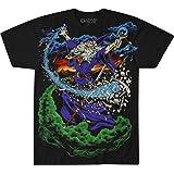 Liquid Blue Unisex-Adult's Vintage Wizard Jumbo Fantasy Print Short Sleeve T-Shirt