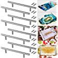 8 PCS 6'' Silver Tray Handles Resin Tray Molds Handles Brushed Nickel Stainless Steel Hardware Handles Bulk for DIY Silicone