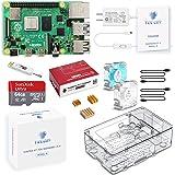 TRASKIT Raspberry Pi 4 Model B Starter Kit/ラズベリーパイ4B(4GB RAM)技適マーク付/MicroSDHCカード64GB NOOBSプリインストール/簡単に取り付けるケース/5.1V/3A Type-C