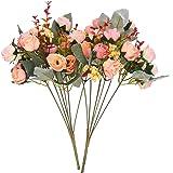 SAMYO Artificial Silk Rose 2 Pcs