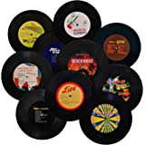 MINI ZOZI 7 inch Blank Vinyl Records Fake 10 Pieces in 1 Pack for Indie Aesthetic Room Decor or Home Decor on Wall for Bedroo