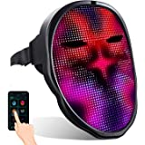 MEGOO Newest Led mask with App Bluetooth Programmable,for Masquerade Costume Cosplay Birthday Party Carnival Festival edm, Ha