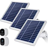 iTODOS Solar Panel Compatible with Arlo Pro and Arlo Pro 2, 11.8Ft Outdoor Power Charging Cable and Adjustable Mount,Not for