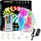 SHOPLED LED Strips Lights 5m RGB Light Strip Kit, 5050 SMD Flexible Color Changing LED Tape Lights with IR Remote Control, RG