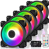 EZDIY-FAB 120mm RGB LED Case Fan for PC Cases, CPU Cooling Fan, Water Cooling Fan, Addressable RGB Case Fan with Controller-