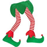 """Geefuun 23"""" Christmas Elf Stuffed Legs Stuck Tree Topper Decorations -Xmas Holiday Indoor Outdoor Decor Party Ornaments"""