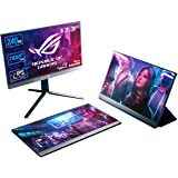 ASUS ROG Strix XG17AHP Portable USB Type-C Gaming Monitor – 17.3-inch, IPS, FHD (FullHD, 1920x1080), 240Hz(Above 144Hz), Adap