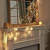 Vanthylit White Garland Lights with 5.9FT 48 LED Warm White Waterproof Decorative Twig Vine Lights for Bedroom Home Garden We