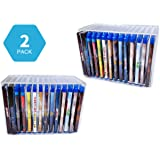 HomeRx Clear Acrylic Stackable Wall Mount - Blu-ray/Video Game Holder Organizer (Holds 14 Cases)