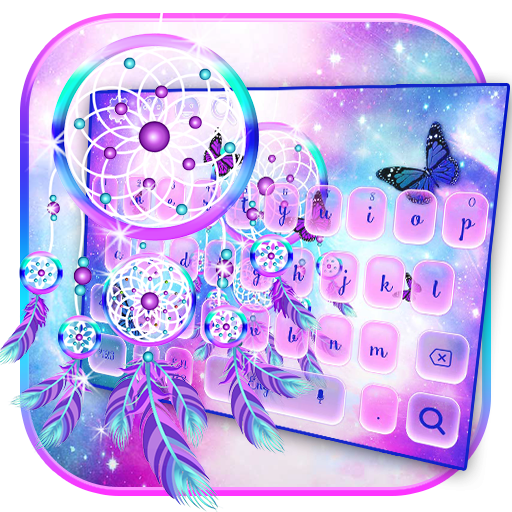 Purple Dream Catcher Keyboard Theme
