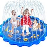MOZOOSON Splash Pad for Kids Sprinkler Outdoor Inflatable Water Toys for Toddler Kids ab 3 Year Old, Slip n Slide for Girls B