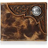Ariat Men's Distressed Corner Over Circle Trifold Wallet