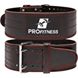 ProFitness Genuine Leather Workout Belt (4 Inches Wide) - Proper Weight Lifting Form - Lower Back Support for Squats, Deadlif