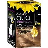 Garnier Olia Permanent Hair Colour - 8.0 Blonde (Ammonia Free, Oil Based)