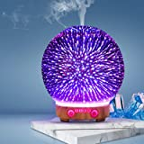 Devanti Aromatherapy Diffuser Aroma Humidifier Ultrasonic 3D Firework Light Oil
