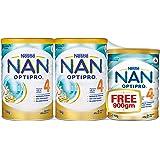 NESTLE NAN Nestle NAN OPTIPRO 4 Growing Up Milk 1.8kg Value Pack (2x1.8kg + 900g), 4.5 kg