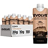 Evolve Protein Shake, Mellow Mocha, 20g Protein, 11 Fl Oz (Pack of 12)