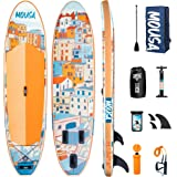 Mousa Inflatable Paddle Board, 11' x 34'' x 6'' Dual Player Paddle Boards for Adults, 3-Fin & Floatable Paddle Non Slip Deck,