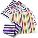 TANGONO [ 色柄おまかせ ] 今治 残糸で作ったエコなタオルセット 吸水 速乾 日本製 (残糸ハンカチ 6枚組)