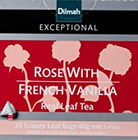Dilmah Exceptional Rose with French Vanilla, 40 g, Rose & Vanilla
