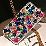 ikasus Case for iPhone Xs Max,iPhone Xs Max Diamond Case,3D Handmade Bling Rhinestone Diamonds Luxury Sparkle Case Girls Wome