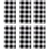 SUNWISHA Gingham Check Plaid Towels (13.7x37.4inch) Tenugui Kitchen Towels for Cleaning, Cooking, Decoration Towel