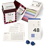 Think Tank Scholar 173 Multiplication Flash Cards & Quick Quiz Dice (All Facts 0-12)   Best for Kids in 3rd, 4th 5th, 6th Gra