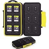 Skoloo SD Card Case, Waterproof Memory Card Holder, 12 SD Card Cases Storage + 12 Micro SD Card Holder for SDHC SDXC TF Card,