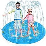 噴水マット Chamsaler 噴水 おもちゃ プレイマット 子供 夏対策 172CM直径 親子遊び 家庭用 アウトドア 庭 芝生遊び シャワー