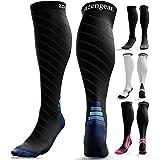 Compression Socks for Men & Women (20-30 mmHg) - Anti DVT Stockings - Swollen Legs - Varicose Veins - Edema - Running - Sport