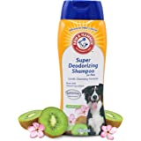 Arm & Hammer Super Deodorizing Shampoo for Dogs | Odor Eliminating Shampoo for Smelly Dogs & Puppies | Kiwi Blossom, 20 Ounce