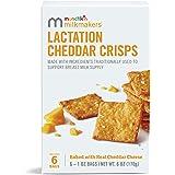 Munchkin Milkmakers Lactation Cheddar Crisps for Breastfeeding Moms, 6 Bags