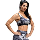 V LOVEFIT Firm ABS Women's Built-Up Camouflage Sports Underwear Running Quick-Drying Racerback High Impact Fitness Bra