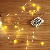 Sanniu Led String Lights, Mini Battery Powered Copper Wire Starry Fairy Lights, Battery Operated Lights for Bedroom, Christma