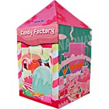 NARMAY Play Tent Candy Factory Playhouse for Kids Indoor/Outdoor Fun