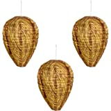 Wasp Nest Decoy - Natural Wasp Repellent - Upgraded Waterproof Material - 3 Pack - Outdoor Eco Friendly