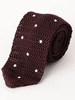 Dot Silk Knit Tie 3134-343-2388: Purple
