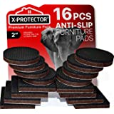 "Premium Non Slip Furniture Pads 16 Piece 2"". Best SelfAdhesive Furniture Grippers ? Furniture Stoppers with Rubber Pad ? Idea"