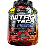 Protein Powder + Creatine Monohydrate + Testosterone Booster for Men | MuscleTech Nitro-Tech Power | Whey Protein Powder | Ma