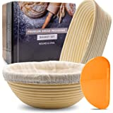 Bread Proofing Basket - [Round and Oval Set] Banneton Baking Bowl Dough Rising - Perfect Gifts for Home Bakers - Premium Hand