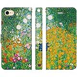 ブレインズ iPhone SE 第2世代 2020 iPhone8 iPhone7 兼用 手帳型 ケース カバー クリムト 農場の庭 Flower Garden 絵画 名画