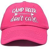 DALIX Camp Hair Don't Care Hat Dad Cap 100% Cotton Lightweight