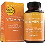 Vitamin D3 5000 IU, 360 Softgels - High Potency Vitamin D Made with Organic Coconut Oil, Vitamin D for Healthy Immune Functio