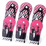 Spove Polka Dot Flip Flop Design Manicure Kit (Set of 6 Kits)