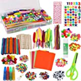 Arts and Crafts Supplies for Kids - Craft Art Supply Kit for Kids & Toddlers All in One D.I.Y. Crafting Collage School Supply