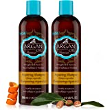 HASK ARGAN OIL Shampoo, Repairing for all hair types, color safe, gluten-free, sulfate-free, paraben-free - 2 Shampoos