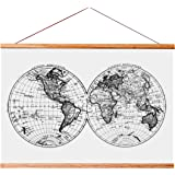 """Landmass 24"""" Wide Magnetic Poster Hanger Frame - Wall Hanging Wooden Frame For Posters, Prints, Photos, Pictures, and Artwork"""