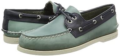 Authentic Original Sarape Boat Shoe: Blue Surf / Navy