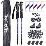 TheFitLife Nordic Walking Trekking Poles - 2 Pack with Antishock and Quick Lock System, Telescopic, Collapsible, Ultralight f